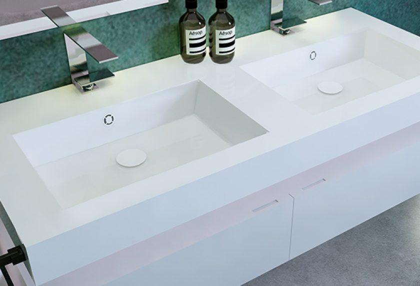 Tipos de lavabos Solid Surface o Corian: ideas de decoración